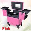 Чемодан профессионала - мастера на колесах, розовый матовый
