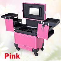 Чемодан профессионала - мастера на колесах, розовый матовый , фото 1
