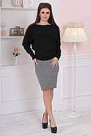 Женский черный свитерочек