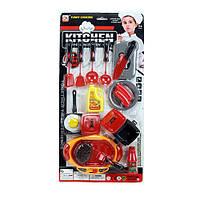 Посуда 0097-6  плита,кастрюля,сковородка,кухон.набор,продукты,на листе, 25-51-4см