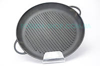 Чугунная сковорода гриль(круглая) Ситон d=200мм, h=35мм