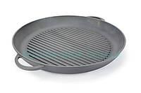 Чугунная сковорода гриль(круглая) 340х40 мм. Чугунная посуда Ситон
