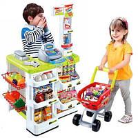 Магазин 668-01-03 с кассой, тележкой, сканером, продукты