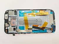 Дисплей для HTC One M8 с сенсором чёрным и рамкой