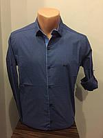 Стильная мужская рубашка на кнопках S-XL