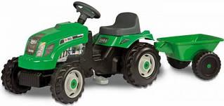Педальный трактор c прицепом Smoby GM vert