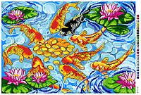 Картинка на канве А-3 Рыбки