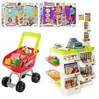 Детский игровой набор магазин 668-01-03 с кассой, тележкой, сканером, продукты
