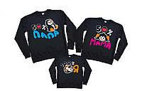 Семейный комплект свитшотов «Пингвины: мама, папа, я»