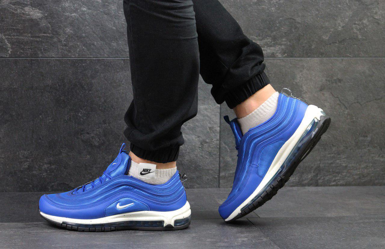 bcbb7b14 Кроссовки в стиле Nike Air Max 97 (ярко синие с белым) кроссовки найк nike  ...