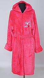 Женский махровый халат на замке