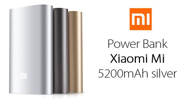 Power Bank Xiaomi Mi 5200mAh silver