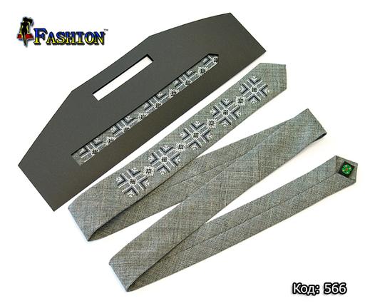 Вышитый узкий галстук Всеволод, фото 2