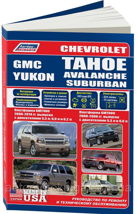 GMC YUKON  CHEVROLET TAHOE / AVALANCHE / SUBURBAN Платформа  GMT800 / GMT900  2000-2014 гг. выпуска