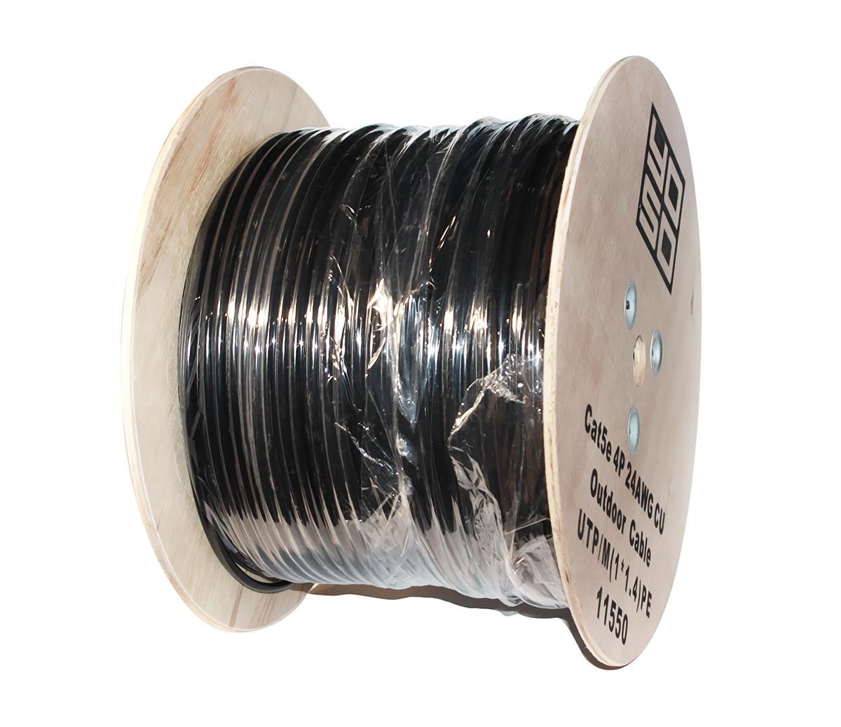 Кабель UTP, Cu (медь), для внешней прокладки с проволокой, 4x2x0,50 мм