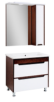 Мини-комплект мебели для ванной комнаты Браун 80 Юввис