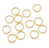 Соединительные колечки (кольца) Золотые 10 мм 100 грамм/1010 штук
