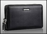 Сумка клатч кошелек мужской LEINASEN модель 2 (черный), фото 1