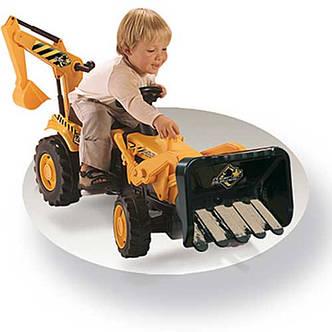Трактор педальный с прицепом и двумя ковшами Smoby (Смоби), фото 2