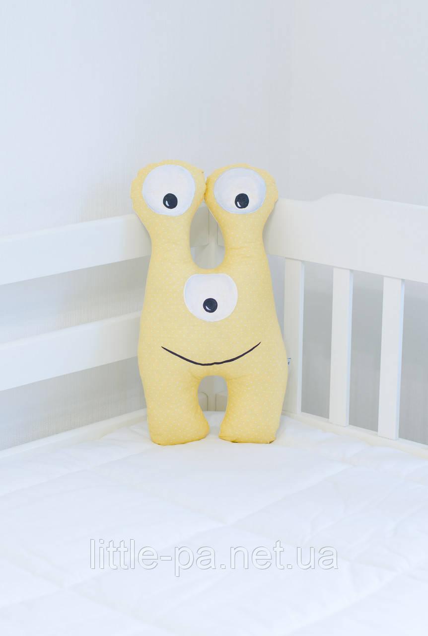 """Подушка из хлопка для детской кроватки """"Инопланетянин Билли"""""""