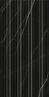Плитка Абсолют Модерн черный рельеф 161