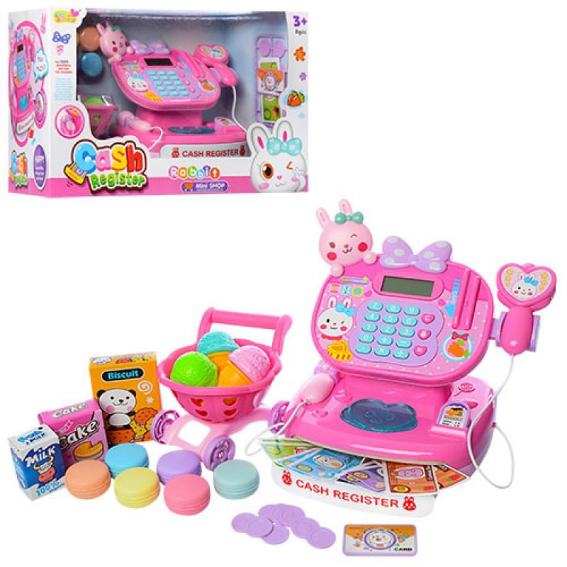 Игровой набор Кассовый апарат, калькулятор, сканер, продукты, тележка, сладости, YY6001-1