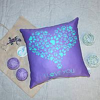 Подушка с рисунком Сердце