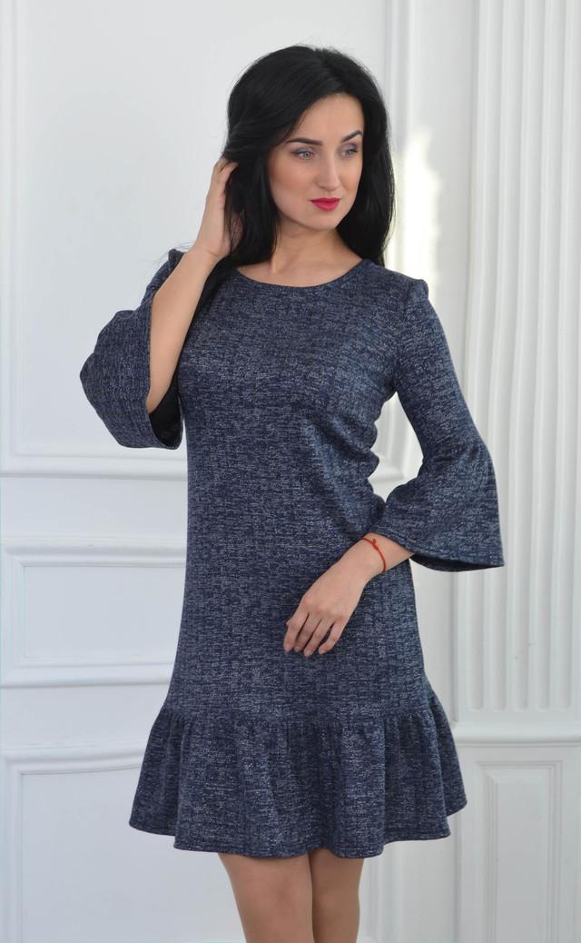 857115eb7ef Нежное платье с люрексом до середины бедра  продажа