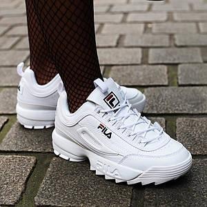 Женские и мужские кроссовки Fila Disruptor 2(II) White