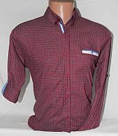 """Рубашка мужская стильная с рукавом 3/4, размеры M-2XL Серии """"ZAZZONI"""" купить оптом в Одессе на 7 км"""