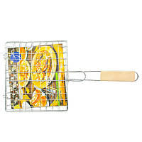 Решетка для гриля и барбекю 21.5х19 см., решетка для костра