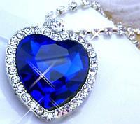 """Ожерелье """"Сердце океана"""" с кристаллами+подарочный мешочек бесплатно!(ОПТ)"""