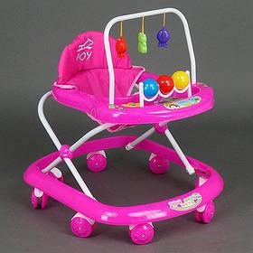 Ходунки Joy 992 розовые ОПТом