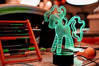 "Детский Ночник 3D ""My Little Pony"" 3DTOYSLAMP, фото 1"