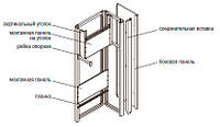 Монтажная панель 300х790 (оцинк), для КСРМ (к-т 2шт)