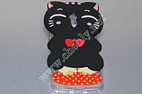 3D силиконовый чехол Черный кот с красным бантом Meizu M5S