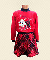 TM Dresko Костюм для девочки Собачка: кофта + юбка французский трикотаж (98017)