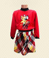 TM Dresko Костюм для девочки Кошка: кофта + юбка французский трикотаж (98021)
