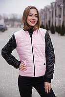 Куртка - бомбер женская весенняя.42-48р(розовый)