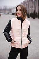 Куртка - бомбер женская весенняя.42-48р(персик)