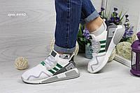 Кроссовки женские Adidas Equipment adv 91-17 белые с зеленым