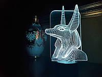 "3D ночник ""Анубис"" 3DTOYSLAMP, фото 1"
