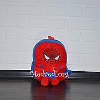 Детский плюшевый рюкзак Человек-паук со съемной игрушкой