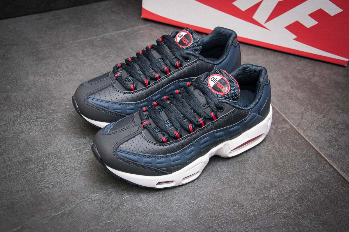 Кроссовки женские в стиле Nike AirMax 95, темно-синий (11464),  [  38