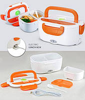 Ланч бокс пластиковый на 2 отделения с подогревом The electric lunch box 24х17 см