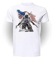 Футболка GeekLandКредо ассасина Assassins Creed флаг AC.01.005