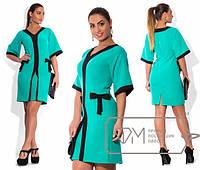 Красивое и модное платье в больших размерах с широким рукавом  tez1515417
