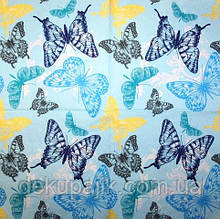 Декупажная салфетка Бабочки на голубом 3316