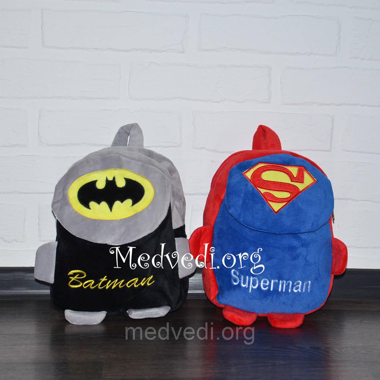 Детский плюшевый рюкзак Бэтмен с лапками
