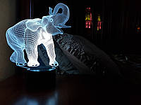 "3D светильник ""Слон"" 3DTOYSLAMP, фото 1"